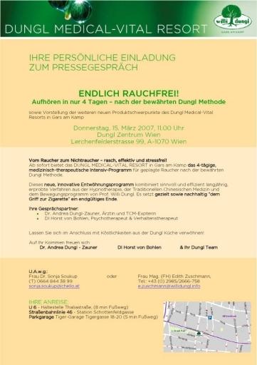 BILD zu TP - Einladung zum Pressegespräch am Donnerstag, 15. März 2007 um 11.00 Uhr