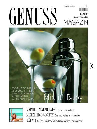 Die aktuelle Ausgabe des GENUSS.MAGAZINs (wie immer im Kombi mit wein.pur) erhalten Sie ab 2. Juli 2007 in der Trafik, beim Zeitschriftenhandel und bei allen OMV Viva Shops.