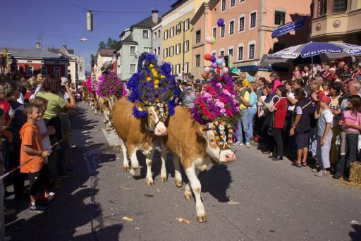 Ein absolutes Muss für all jene, die dem Ferienland Kufstein im September einen Besuch abstatten, sind die Almabtriebsfeste in Ebbs und Niederndorf (15. Sept.), im Thierseetal (22. und 29. Sept.) und in der Festungsstadt Kufstein (22. Sept., ab 10 Uhr).