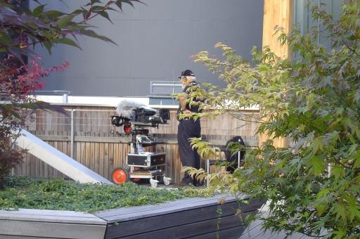 Die HolzErlebnisWelt FeuerWerk bei Binder Holz fungierte als Drehort für den Höhepunkt der neuen Staffel von SOKO Kitzbühel. Im Bild: Dreharbeiten in 16 m Höhe