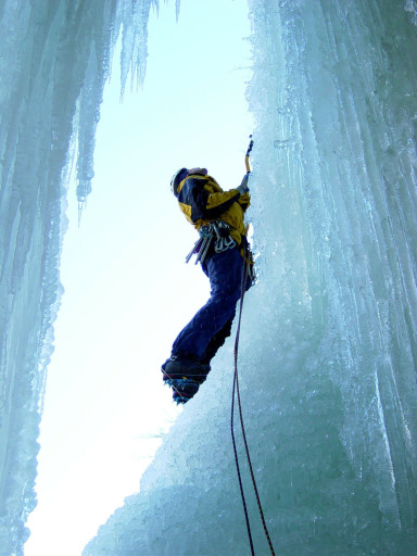 Eiskletterer kommen in Kärnten voll auf ihre Kosten