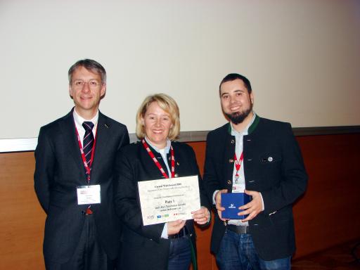 Die Gewinner v.l.n.r.: Dir. Gerhard Walter, Ulli Jochum, Gebhard Pichle
