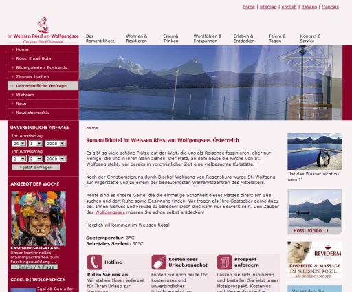 Drei Jahre hintereinander räumt die Website http://www.weissesroessl.at beim Swarovski Crystal Webaward Stockerlplätze ab. Das beweist: Das Weisse Rössl ist schon längst an seinen Mitbewerbern vorbeigaloppiert.