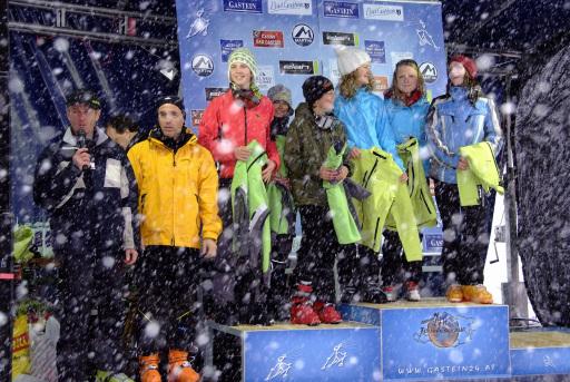 Siegerehrung Gasteiner Skitourenlauf Jugend