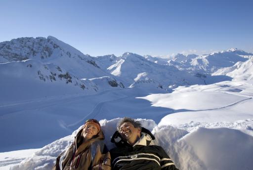 Sonnenskilauf und Winterfinale 08 in Lech Zürs am Arlberg