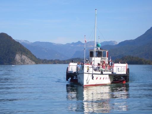Zwischen den Orten St.Gilgen, St.Wolfgang und Strobl pendeln die Schiffe der Wolfgangseeflotte wieder täglich von 26. April bis 2. November 2008.