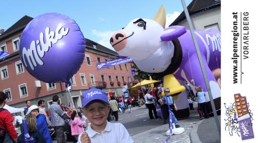 Milka-Schokoladefest in Bludenz