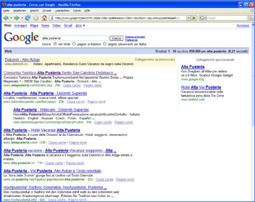 Die Website ist durch das Know-how der ICC-Experten bei den Suchmaschinen ganz vorne gereiht.
