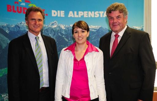 Generalversammlung der Alpenregion Bludenz am Dienstag, 24. Juni 2008 im Rathaus Bludenz v.l. Landesrat Manfred Rein, Mag. Kerstin Biedermann und Bürgermeister Mandi Katzenmayer http://www.pressefotos.at/main.php?g=1&u=43&dir=200806&e=20080624_a&a=event