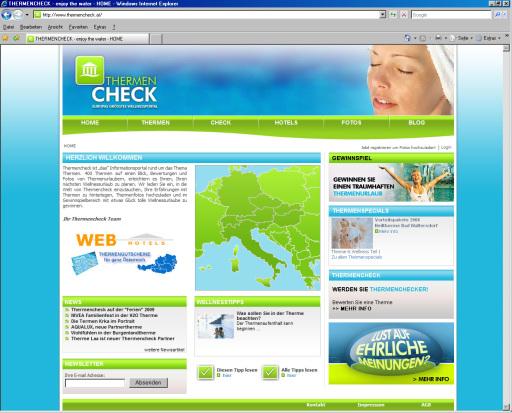 Das Internetportal Thermencheck.com ist auf dem besten Weg, Europas größtes Thermenportal zu werden. Viele slowenische und österreichische Thermen sind bereits Partnerbetriebe und jetzt gibt es bereits zwei Partnerthermen in Deutschland.
