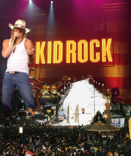 Kid Rock am 7. Dezember 2008 auf der Schladminger Planai. Abdruck honorarfrei.