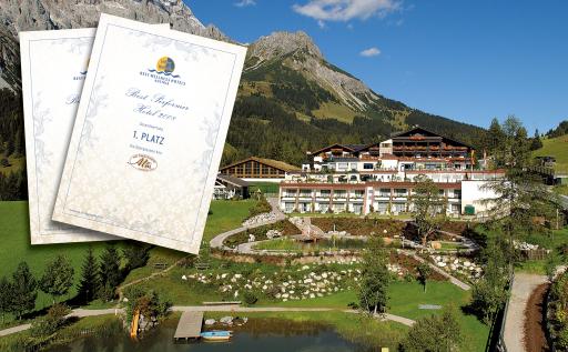 Best Performer des Jahres 2008 in der Gruppe der Best Wellness Hotels Austria: Hotel Übergossene Alm in Dienten am Hochkönig.