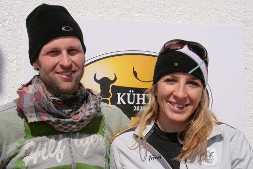 Eisschnelllaufsuperstar Anni Friesinger stellt am 07.12.2008 der internationalen Presse das Skigebiet im Kühtai vor.