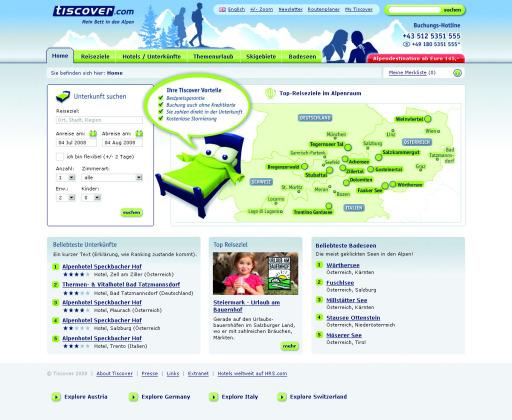 Am 1. Mai launcht Tiscover das neue Alpenportal mit Fokus auf online buchbare Unterkünte und Destinationen in den Alpen.