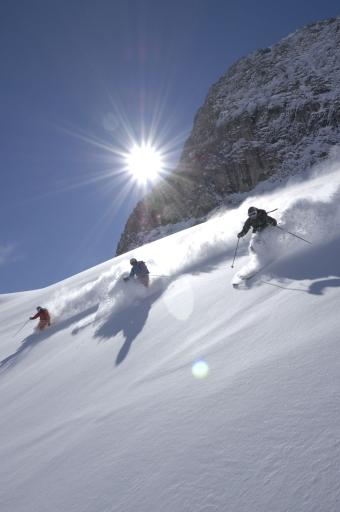 Skifahrer in Lech am Arlberg