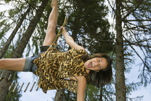 Tarzan-Feeling auf der Flying-Fox-Meile am Nassfeld