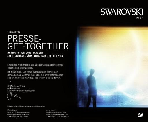 Einladung zum Presse-Get-Together Swarovski Wien am 15. Juni 2009