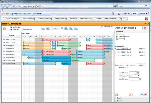 Die Vertriebsmanager-Software von Easybooking übernimmt die Funktionen der Rezeption im Onlinebereich. Julia ermöglicht von der Anfragenbeantwortung und Pauschalenbuchung über die Last Minutes Verwaltung bis zur Preisberechnung und Rechnungsstellung alle wichtigen Aufgaben für den Hotelier.