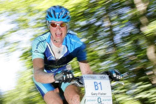 Auch bei der Trophy 2009 voll in Fahrt: Mountainbike-Urgestein Gary Fisher.