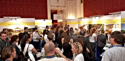 Das Angebot der Partnerbetriebe des Convention Bureau Niederösterreich findet bei den Besuchern der access 2009 in der Wiener Hofburg großen Anklang.