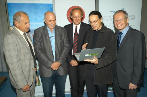 Univ.Prof. Dr. Roman Sandgruber, Univ.Prof. Dr. Hannes Werthner, Univ. Prof. Dr. Alois Ferscha, Mag. Gerfried Stocker und Mag. Karl Pramendorfer.