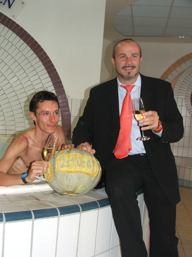 (von links): Günther Weidlinger, Peter Prisching Burgenlandtherme-Geschäftsführer