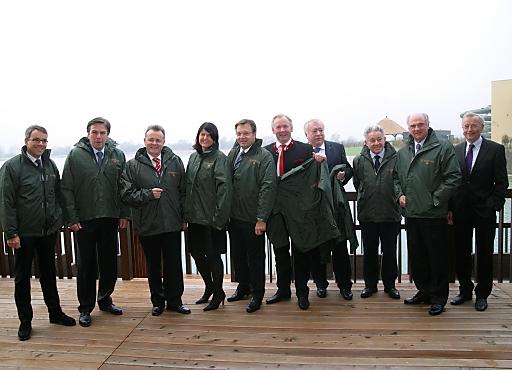 Die neue St. Martins Therme & Lodge im burgenländischen Seewinkel war am Freitag Tagungsort der Landeshauptleutekonferenz.
