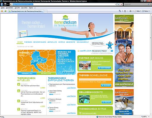 Unter www.thermencheck.com finden Sie Ihre Traumtherme oder Ihr Wunschhotel zum Relaxen und Wohlfühlen. .