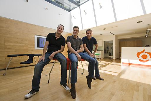 Dietmar Rietsch, Roland Dessovic und Patrick Edelmayr (Agenturleitung elements.at)