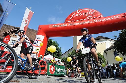 Start- und Zielareal des M3 Montafon Mountainbike Marathon.