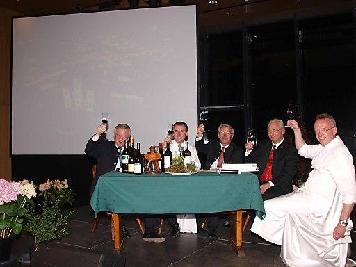 v.l.n.r.: Rudolf Kemler, Toni Mörwald, Georg Pölzl, Kari Kapsch, Ernst Rosmanith.