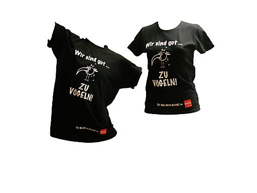 Selbstironische T-Shirt-Aktion für einen guten Zweck.