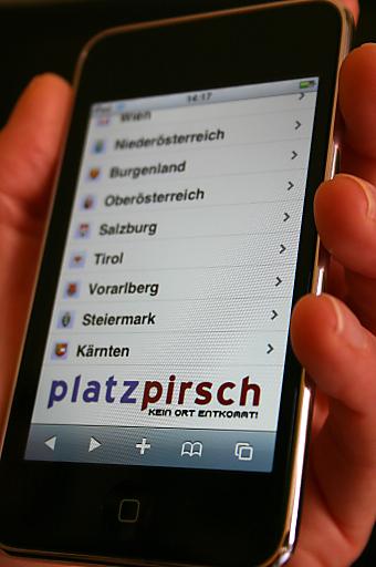 Allerorts passende Locations zur Hand: Berufliche und private Eventplaner finden auf iphone.platzpirsch.at Veranstaltungsräume von Wien bis Dornbirn.