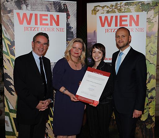 v.li.n.re.: Christian Mutschlechner, GRin Dr. Elisabeth Vitouch, Mag.a Tanja Werkl und Tourismusdirektor Norbert Kettner