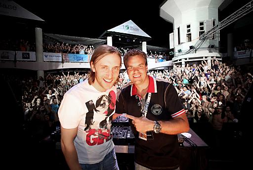 Didi Tunkel und David Guetta auf SUMMER SPLASH.