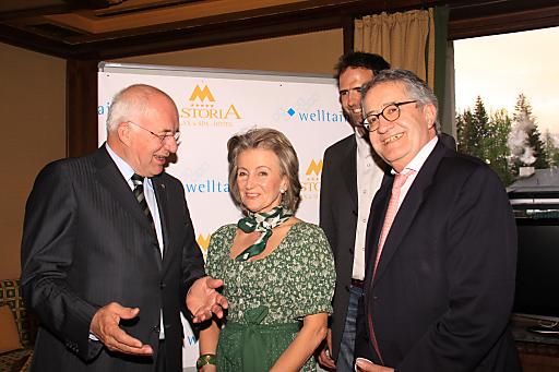 v.l.n.r.: DDr. Herwig van Staa, Dkfm. Elisabeth Gürtler, Markus Flatz (WelltainCoach), Prof. Dr. Egon Humpeler