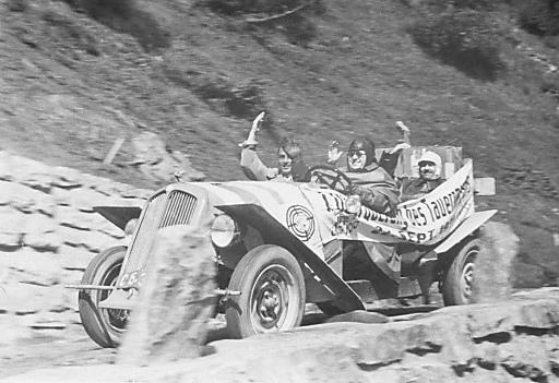 Erstbefahrung im Jahr 1934 auf der Rohtrasse