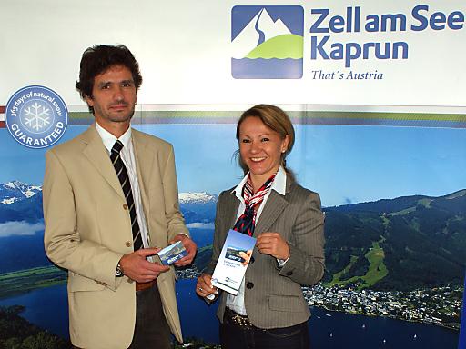 Geschäftsführerin Mag. Renate Ecker und Marketingchef Mag. Oliver Stärz sehen Zell am See-Kaprun auf einem guten Weg - nicht zuletzt wegen des großen Nächtigungspluses im Juli.