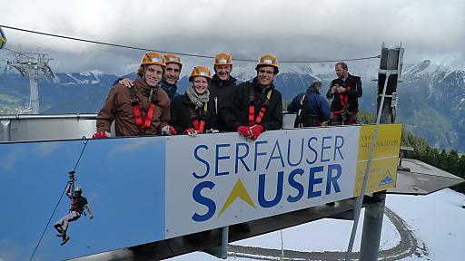 Das Organisationsteam von erlebnisplan und con.os tourismus.consulting gmbh machte den Exkursionsteilnehmern die spannenden touristischen Konzepte der Tiroler Gipfelstürmer erlebbar.