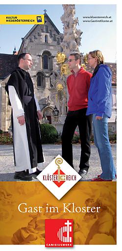 """Die neue Broschüre """"Gast im Kloster"""" - ideal für Menschen, die eine Auszeit vom Alltag nehmen wollen - ist kostenlos erhältlich bei Klösterreich unter +43 (0)2735 5535-0 oder www.kloesterreich.at."""