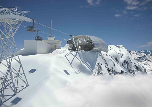Die Gaislachkoglbahn in Sölden ist vermutlich das ehrgeizigste Seilbahnprojekt, das je in den Alpen gebaut wurde.