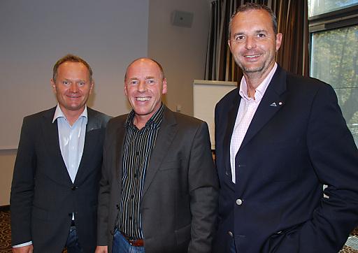 """""""Der etwas andere Weg"""" von Harti Weirather begeisterte die Teilnehmer des BÖTM Top-Seminars ebenso wie BÖTM Präsident Josef Schirgi und Peter Marko, GF Kitzbühel Tourismus."""