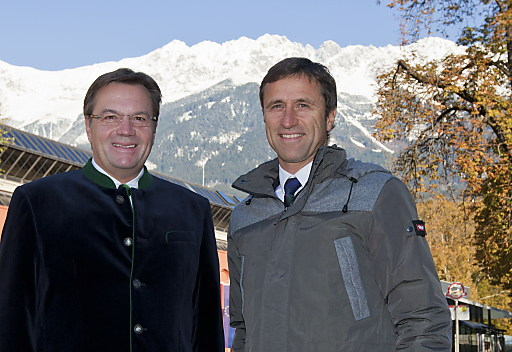 LH Günther Platter und Tirol-Werber Josef Margreiter blicken optimistisch in die Wintersaison.