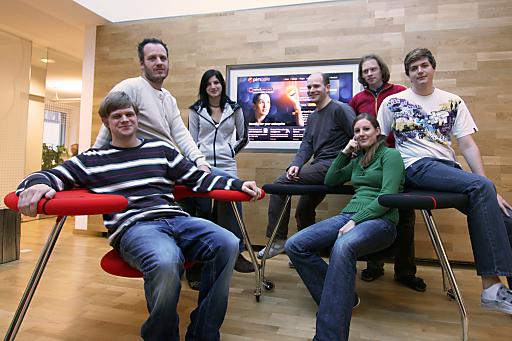 Dietmar Rietsch (2 v.l.) und das Entwickler-Team von Pimcore.