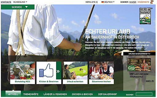 Neue Homepage www.UrlaubamBauernhof.at