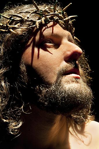 Martin Sieberer ist einer der beiden Jesus-Darteller bei den Passionsspielen Thiersee 2011.