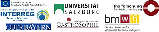 Alpen-Kulinarik ist ein von der EU gefördertes, grenzüberschreitendes Gemeinschaftsprojekt der Universität Salzburg (Zentrum für Gastrosophie), des Tourismusverbandes München-Oberbayern e.V. und der Tourismusforschung der Fachhochschule Salzburg. Die Maßnahmen werden u.a. vom Land Salzburg, dem Bundesministerium für Wirtschaft, Familie und Jugend sowie der SalzburgerLand Tourismus GmbH unterstützt.