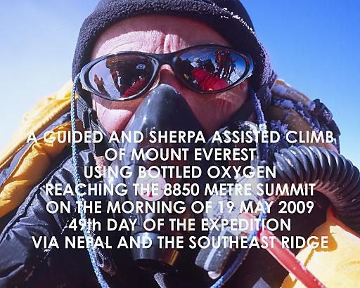 """Der Titel für das """"Beste Bergfoto des Jahres"""" geht an Hamish Fulton mit seinem """"Summit Portrait"""" am Mount Everest."""