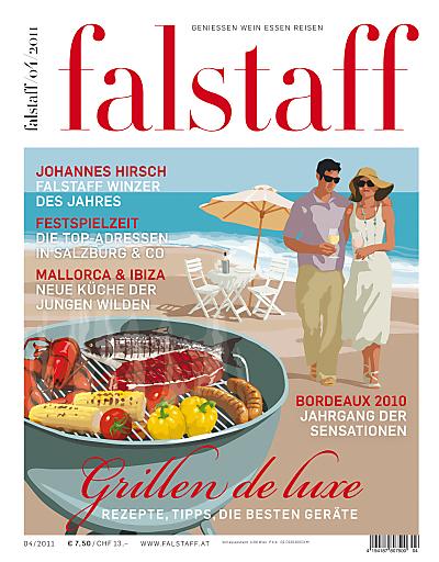 Falstaff stellt in der vierten Ausgabe des Jahres die Qualität und vor allem die Vielfalt der Nahrungsmittel, die zum Grillen geeignet sind, in den Mittelpunkt.