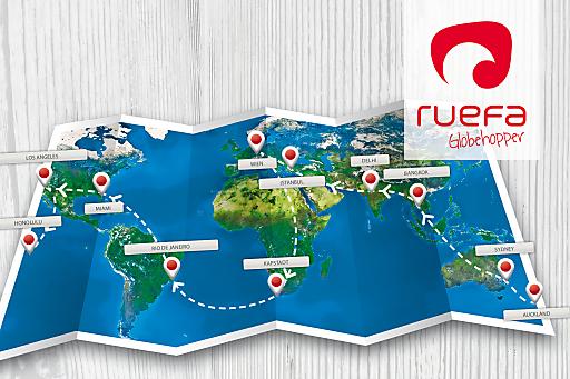 Ruefa sucht Globehopper für Weltreise - Reiseroute.